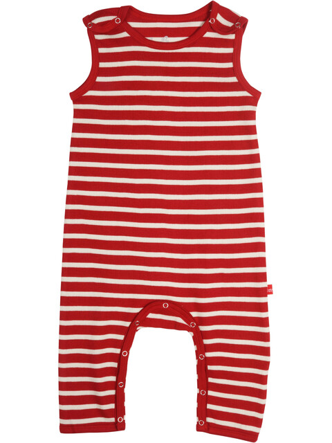 Elkline Beachbaby Overall Baby Chilipepperred-White